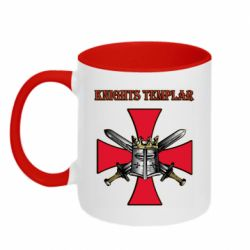 Кружка двоколірна 320ml Knights templar helmet and swords