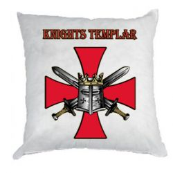 Подушка Knights templar helmet and swords