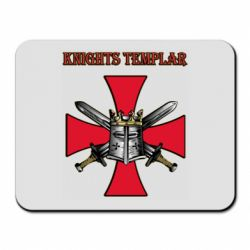 Килимок для миші Knights templar helmet and swords