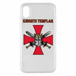 Чохол для iPhone X/Xs Knights templar helmet and swords
