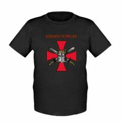 Дитяча футболка Knights templar helmet and swords
