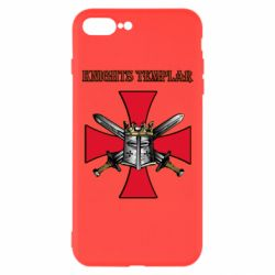 Чохол для iPhone 8 Plus Knights templar helmet and swords
