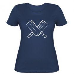 Женская футболка Knives - FatLine