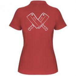 Женская футболка поло Knives - FatLine