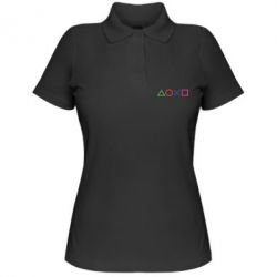 Жіноча футболка поло Кнопки PlayStation