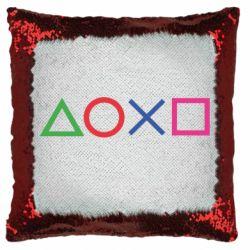 Подушка-хамелеон Кнопки PlayStation