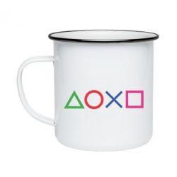 Кружка емальована Кнопки PlayStation