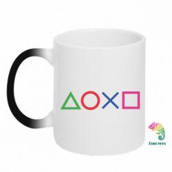Кружка-хамелеон Кнопки PlayStation