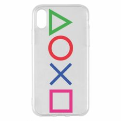 Чохол для iPhone X/Xs Кнопки PlayStation