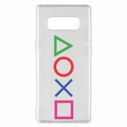 Чохол для Samsung Note 8 Кнопки PlayStation
