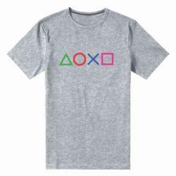 Чоловіча стрейчева футболка Кнопки PlayStation