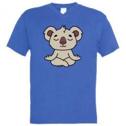 Мужская футболка  с V-образным вырезом Koala