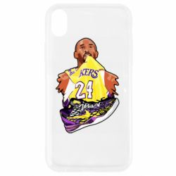 Чехол для iPhone XR Kobe Bryant and sneakers