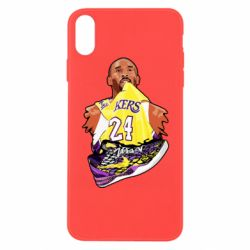 Чехол для iPhone Xs Max Kobe Bryant and sneakers