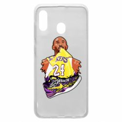 Чехол для Samsung A30 Kobe Bryant and sneakers