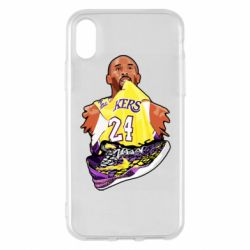 Чехол для iPhone X/Xs Kobe Bryant and sneakers