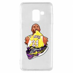 Чехол для Samsung A8 2018 Kobe Bryant and sneakers