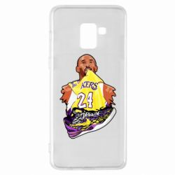 Чехол для Samsung A8+ 2018 Kobe Bryant and sneakers