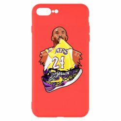 Чехол для iPhone 8 Plus Kobe Bryant and sneakers