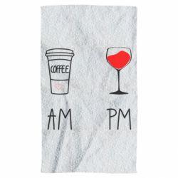 Рушник Кофе и бокал с вином