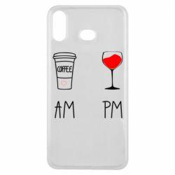 Чохол для Samsung A6s Кофе и бокал с вином