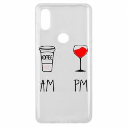 Чохол для Xiaomi Mi Mix 3 Кофе и бокал с вином