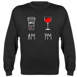 Реглан (світшот) Кофе и бокал с вином