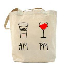 Сумка Кофе и бокал с вином