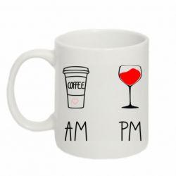 Кружка 320ml Кофе и бокал с вином