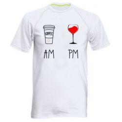 Чоловіча спортивна футболка Кофе и бокал с вином