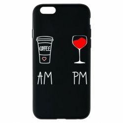 Чохол для iPhone 6/6S Кофе и бокал с вином