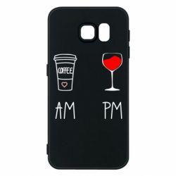 Чохол для Samsung S6 Кофе и бокал с вином
