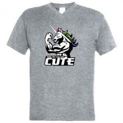 Чоловіча футболка з V-подібним вирізом Кого ти назвав милим
