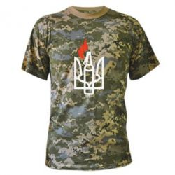 Камуфляжная футболка Коктейль Молотова - FatLine