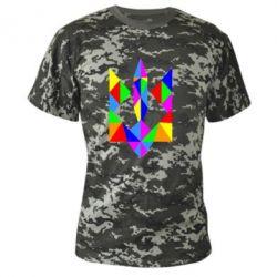 Камуфляжная футболка Кольоровий герб