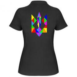 Женская футболка поло Кольоровий герб - FatLine