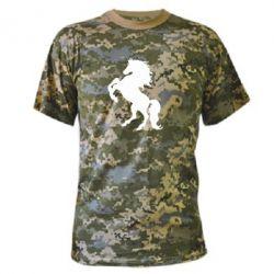 Камуфляжная футболка Конь - FatLine