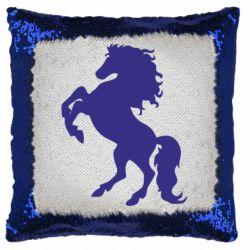 Подушка-хамелеон Кінь