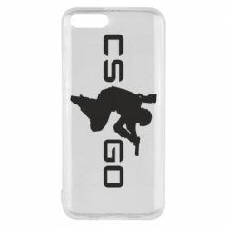 Чехол для Xiaomi Mi6 Контр Страйк, логотип и игрок