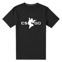 Мужская стрейчевая футболка Контр Страйк, логотип и игрок