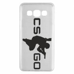 Чехол для Samsung A3 2015 Контр Страйк, логотип и игрок