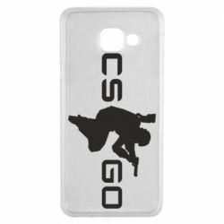 Чехол для Samsung A3 2016 Контр Страйк, логотип и игрок