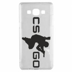 Чехол для Samsung A5 2015 Контр Страйк, логотип и игрок