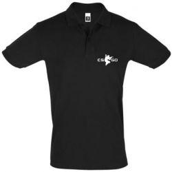 Мужская футболка поло Контр Страйк, логотип и игрок