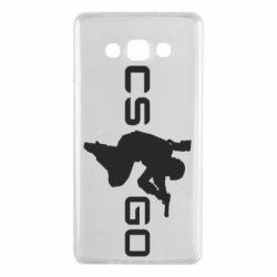 Чехол для Samsung A7 2015 Контр Страйк, логотип и игрок