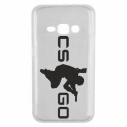 Чехол для Samsung J1 2016 Контр Страйк, логотип и игрок