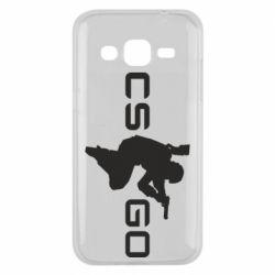 Чехол для Samsung J2 2015 Контр Страйк, логотип и игрок