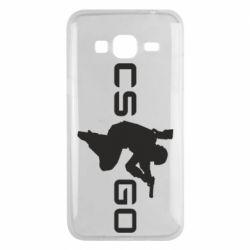 Чехол для Samsung J3 2016 Контр Страйк, логотип и игрок