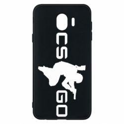 Чехол для Samsung J4 Контр Страйк, логотип и игрок