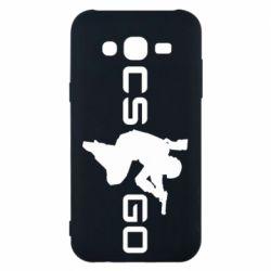 Чехол для Samsung J5 2015 Контр Страйк, логотип и игрок